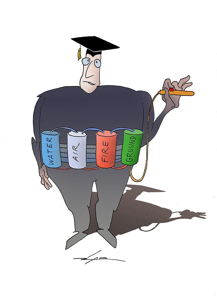 Žarko Luetić Karikatura 17.03.2020.